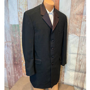 Claiborne 41R Wool 5 Button Point Lapel Tux Jacket